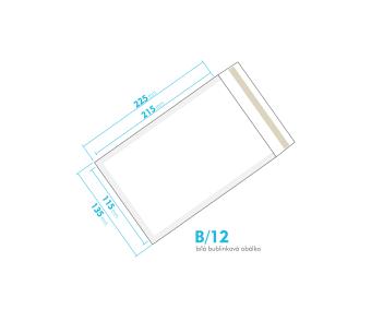 Biela bublinková obálka B/12 vnútorný rozmer 115x215 mm