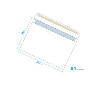Listové obálka - B4 s pásikom