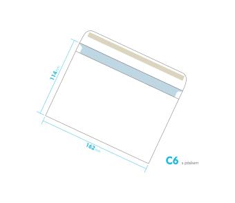 Listové obálka - C6 s pásikom