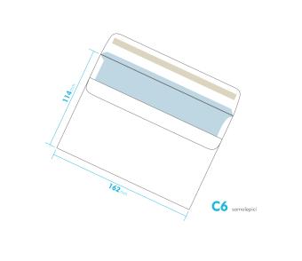 Listová obálka - C6 samolepiace
