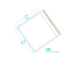 Biela bublinková obálka CD vnútorný rozmer 175x165 mm