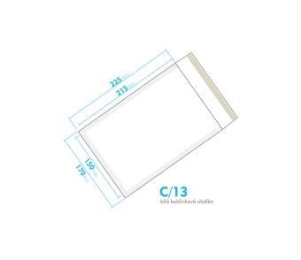 Biela bublinková obálka C/13 vnútorný rozmer 150x215 mm