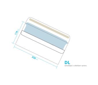 Listová obálka - DL samolepiace - okienko vpravo