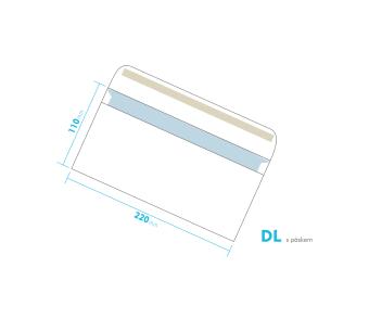 Listové obálka - DL s pásikom