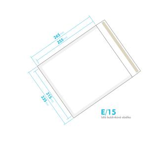 Biela bublinková obálka E/15 vnútorný rozmer 215x255 mm