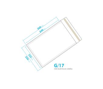 Biela bublinková obálka G/17 vnútorný rozmer 225x340 mm
