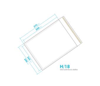 Biela bublinková obálka H/18 vnútorný rozmer 265x360 mm