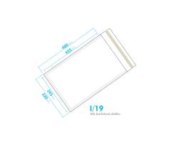 Biela bublinková obálka I/19 vnútorný rozmer 295x455 mm