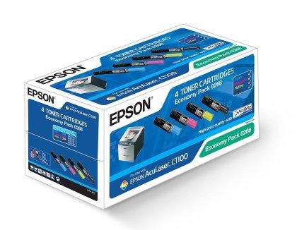 Originálne tonery EPSON C13S050268 (Čierny a farebné) multipack