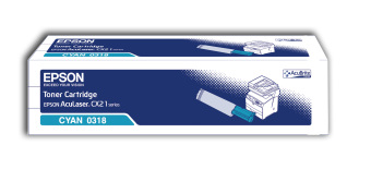 Originálny toner EPSON C13S050318 (Azúrový)