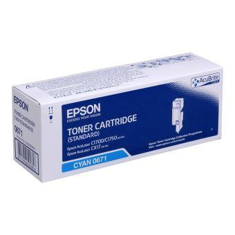 Originálny toner EPSON C13S050671 (Azúrový)