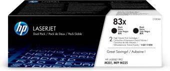 Originálne tonery HP 83X, HP CF283XD (Čierny) multipack
