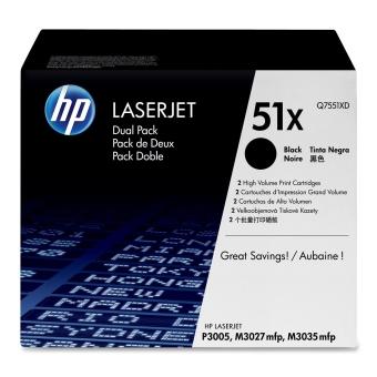 Originálny toner HP 51X, HP Q7551XD (Čierny) multipack
