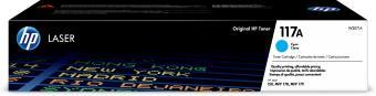 Originálny toner HP 117A, HP W2071A (Azúrový)