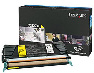 Originálny toner Lexmark C5222YS (Žltý)