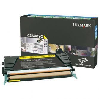 Originálný toner Lexmark C734A1YG (Žltý)