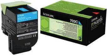 Originálny toner Lexmark 70C20C0 (Azúrový)