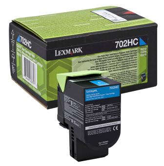 Originálny toner Lexmark 70C2HC0 (Azúrový)