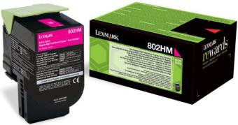 Originálny toner Lexmark 80C2HM0 (Purpurový)