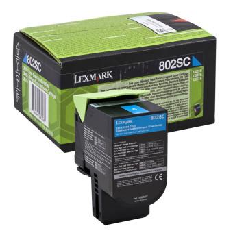 Originálny toner Lexmark 80C2SC0 (Azúrový)