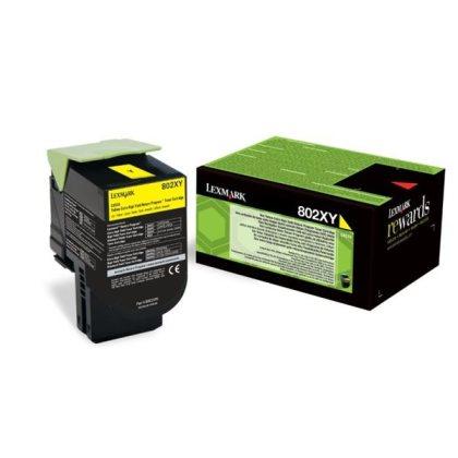 Originálny toner Lexmark 80C2XY0 (Žltý)