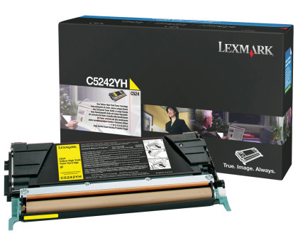 Originálny toner Lexmark C5242YH (Žltý)