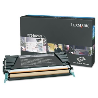 Originálny toner Lexmark C734A2KG (Čierny)