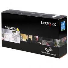 Originálny toner Lexmark C734A2YG (Žltý)