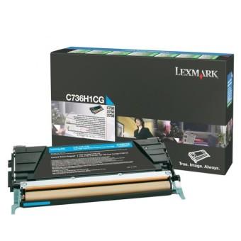 Originálný toner Lexmark C736H1CG (Azúrový)