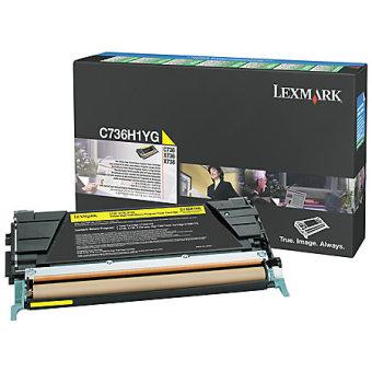 Originálný toner Lexmark C736H1YG (Žltý)