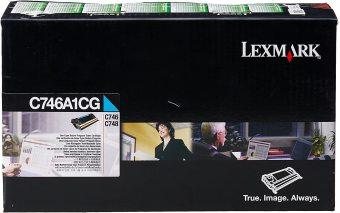 Originálný toner Lexmark C746A1CG (Azúrový)