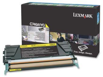 Originálný toner Lexmark C746A1YG (Žltý)