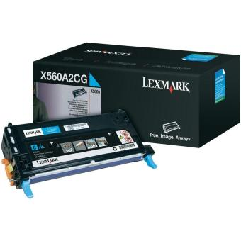 Originálny toner Lexmark X560A2CG (Azúrový)