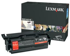 Originálny toner Lexmark X651A21 (Čierný)