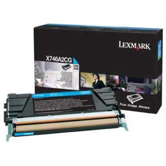 Originálny toner Lexmark X746A2CG (Azúrový)