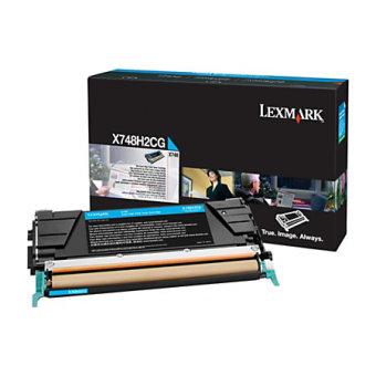 Originálny toner Lexmark X748H2CG (Azúrový)