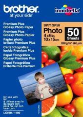 Fotopapier 10x15cm Brother Premium Glossy photo, 50 listov, 260 g/m2, lesklý, bielý, inkoustový (BP71GP50)