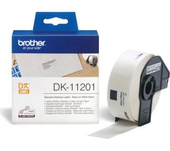 Originálne etikety Brother DK-11201, papierové biele, štand. adresy, 29 x 90mm, 400ks