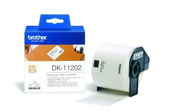Originálne etikety Brother DK-11202, papierové štítky 62 x 100 mm, 300ks