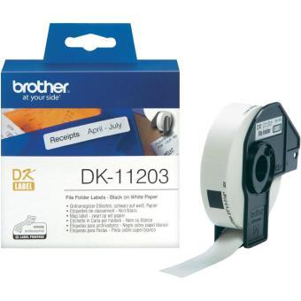 Originálne etikety Brother DK-11203, papierové biele, databáza 17 x 87mm, 300 ks
