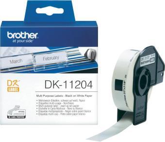 Originálne etikety Brother DK-11204, papierové biele, univ. štítok, 17 x 54mm, 400ks