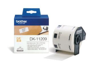 Originálne etikety Brother DK-11209, papierové biele, úzke adresy, 29 x 62mm, 800ks