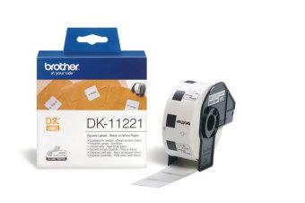 Originálne etikety Brother DK-11221, papierové biele, štvorcové, 23 x 23mm, 1000ks