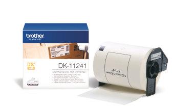 Originálne etikety Brother DK-11241, biele, veľké poštové štítky, 102 x 152mm, 200ks