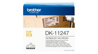 Originálné etikety Brother DK-11247, biele, veľké adresné štítky, 103 x 164mm, 180ks