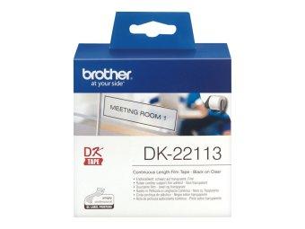 Originálne etikety Brother DK-22113, priesvitná filmová rola, 62mm x 15,24m
