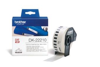 Originálne etikety Brother DK-22210, papierová rola 29mm x 30,48m