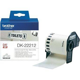 Originálne etikety Brother DK-22212, filmová rola, 62mm x 15,24m