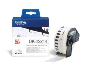 Originálne etikety Brother DK-22214, papierová rola 12mm x 30,48m