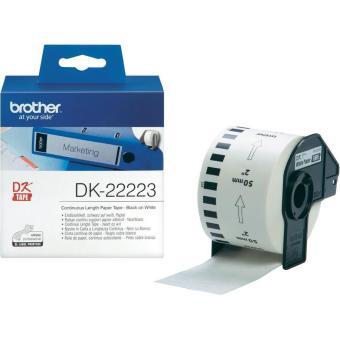 Originálne etikety Brother DK-22223, papierová rola 50mm x 30,48m